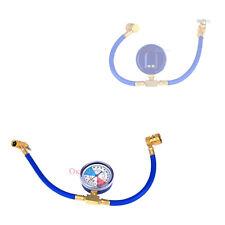 R134a AC HVAC ReCharge Measuring Refrigerant Hose Kit Can Tap W/ Gauge System