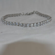 15.00Ct Diamond Tennis Bracelet Silver 7 In 1 Row Diamonds 14K White Gold Finish