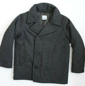 New Old Navy Boys Wool-Blend Pea Jackets Coat XSmall(5) Grey