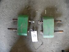 (2) John Deere cast spacers w/ bolts for roll bar Part #R52423 Tag #175