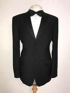 TED BAKER - Mens BLACK WOOL DINNER SUIT - 42 Reg - W34 L31.5 - LOVELY TUXEDO