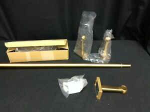 Pottery Barn .75 Single Window Drape curtain Rod Medium 48-88 brass finish gold