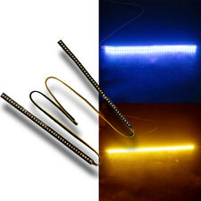 Turn Signal RearView Side Mirror LED Strip Doual Color 1Pair MSS J2