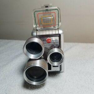 1950 Vintage KODAK BROWNIE Turret 3 Lens f/1.9 - 8 mm Movie Camera. SEE PICS