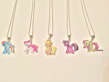 MY LITTLE PONY PENDANT CHARACTER NECKLACE SILVER PLATED CHAIN GIFT BAG