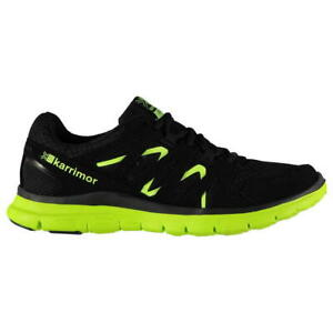 Karrimor Duma Running Shoes Size 9.5 Black/Green Fitness Trainers Sneakers