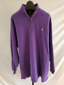 NWT Polo Ralph Lauren Saranac Purple Pullover Sweatshirt Mens Size 3XB Cotton