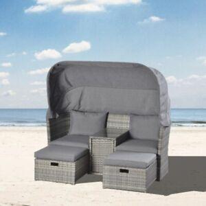 ☀️Strandkorb☀️ Lounge Rattan Sonnenliege Sonneninsel Gartenliege Strandkörbe
