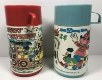 Vintage Walt Disney World & Disney Express Aladdin Thermos Lot