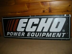 """Vintage METAL Echo Power Equipment SIGN / Double Sided 48"""" by 18"""""""