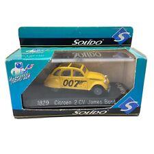 Solido James Bond 1829  Citroen 2 CV 1:43 Scale Metal Die Cast New Open Box