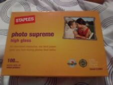 "Staples Photo Supreme High Gloss Paper Size 4""X6"" 100 Sheets"