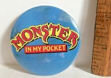 1990S VINTAGE TIN TOY MONSTER IN MY POCKET CLASSIC LOGO MATCHBOX PINBACK VGC!
