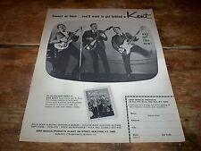KENT GUITAR / AMPS ( CATALOG OFFER ) ORIG 1965 U.S. Vintage magazine PROMO Ad NM