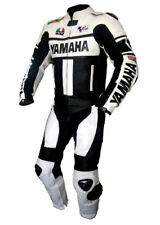 *YAMAHA-Motorcycle Racing 2PC Leather Suit-MotoGp-CE Approved Protectors*