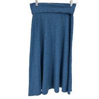 Patagonia Womens Long Skirt Small Hi Lo Black Square Print Blue Size Medium M