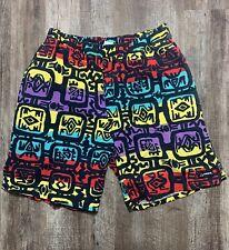 Vintage 90s HOBIE Shorts Surf Sail Skate Colorful Wild USA 100% Cotton Size XL