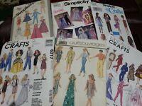 Lot 6 Vintage Barbie doll Clothes Patterns Simplicity McCalls Butterick 4 uncut
