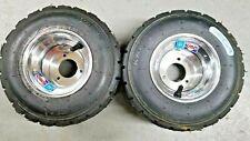 Go Kart Wheels, Go Kart Rain Tires, Pair of Wheels & Tires with New Front Hubs