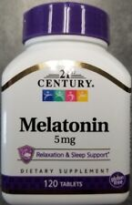 21st Century Melatonin 5 mg Tablets, 120 Count -Expiration Date 04-2021