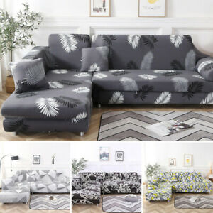 New Modern Stretch Elastic Fabric Sofa Cover Sectional Corner Couch Slipcovers
