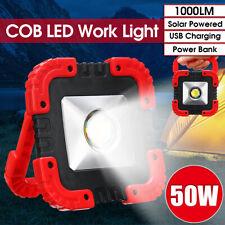 1000LM 50W COB LED Camping Work Light Hand Flashlight Torch Flood Spot Lamp