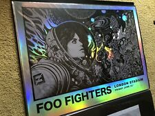 FOO FIGHTERS London Stadium Richey Beckett Concert Art Gig Print FOIL Variant