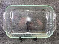 VTG Fluted PYREX 3 QT Clear Glass Rectangular Casserole Baking Dish 233-S 13x9x2