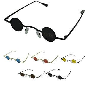 Small Steampunk Sunglasses Men Women Metal Retro Mini Cool Punk Glasses Cool UK