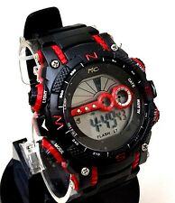 Men's Digital LCD Sports Watch Montres Carlo Mc85272 30 Meter Water Resistant