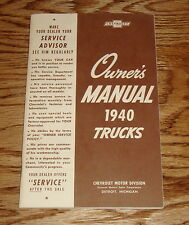 1940 Chevrolet Truck Owners Manual 40 Chevy