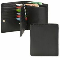 Esquire Geldbörse Herren Leder schwarz 16 Kartenfächer