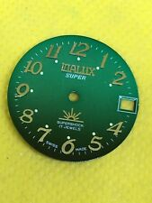 VINTAGE ORIGINALE VIALUX Swiss Watch Quadrante Movimento 26.00mm qualità #WD137#