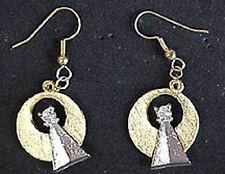 """Pair of Star Trek Vulcan IDIC 1"""" Medallion Earrings for Pierced Ears- OOP"""