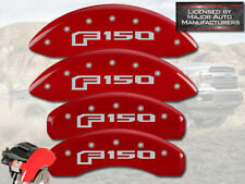 "2015-2020 Ford ""F150"" Front + Rear Red MGP Brake Disc Caliper Covers Electric"