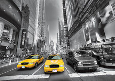 YELLOW CAB TAXI Photo Wallpaper Wall Mural MANHATTAN TIMES SQUARE 360x254cm HUGE