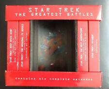 Greatest Battles STAR TREK x4 VHS Videos and a plastic screen divider 1997  RARE