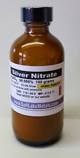 Silver Nitrate High Purity - 100 grams, 99.99% pure, freshly made