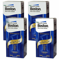 4 x 120ml Boston Simplus Multi Action Contact Lens Solution 🔥🔥🔥
