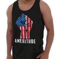 American Attitude United States Patriotic Adult Tank Top T-Shirt Tees Tshirt