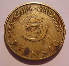 5 Pfennig DM Deutsche Mark Deutschland 1950 D Umlaufgeld