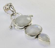 RAINBOW MOONSTONE PENDANT 925 STERLING SILVER ARTISAN JEWELRY COLLECTION Y119B