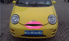 New car pink lip sticker for Chery Q3,funny car eyelash stickers