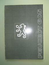 Peugeot  605 - Prospekt - sehr umfangreich - extrem selten - italienisch