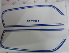 Honda CB 750 Four F1  Decal Decals Stripes Fuel Tank Blue for Sulfur Yellow
