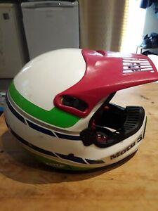 Vintage Bell Moto 5 Motorcycle MX  Helmet size  7/56 Classic BMX old school 1989