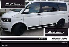 VW T4 T5 T6 BUS Rayas laterales Kit MULTIVAN Pegatinas De Coches COLOR DESEADO