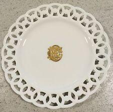 Minton Plate Retailed By Mortlock Gilt Monogram Porcelain Antique China