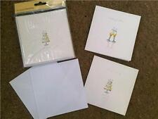 10 X Glitzernde Luxus Hochzeits Einladung Karten Kuchen & Gläser Design