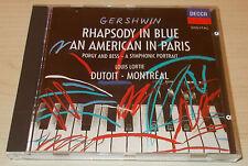 GERSHWIN-RHAPSODY IN BLUE/AMERICAN IN PARIS-CD 1989-DUTOIT-FULL SILVER RING-RARE